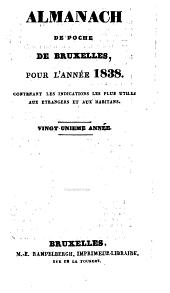 Almanach de poche de Bruxelles, pour l'annee 1838