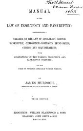 Manual of the Law of Insolvency and Bankruptcy: ... Third edition