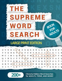 The Supreme Word Search Book for Adults - Large Print Edition