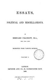 Essays, political and miscellaneous: Volume 1