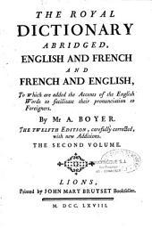 Dictionnaire royal françois-anglois et anglois-françois
