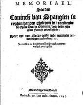 Memoriael, soo den coninck van Sapangien ..