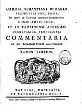 Commentaria in jus ecclesiasticum universum: Volume 2