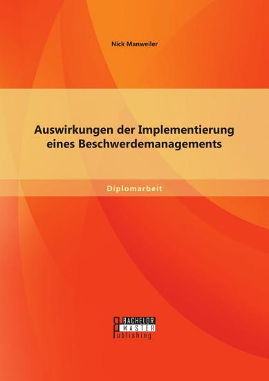 Auswirkungen der Implementierung eines Beschwerdemanagements PDF