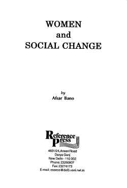 Women and Social Change PDF