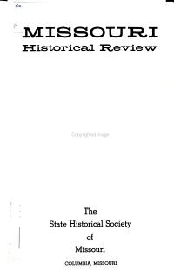 Missouri Historical Review PDF