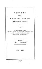 Reports from Commissioners: Volume 21