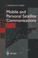 Mobile and Personal Satellite Communications PDF