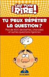 Mini c'est pour rire 13 : Tu peux répéter la question ?