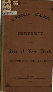A General Catalogue of the University of the City of New York