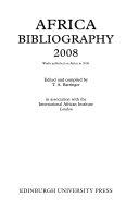 Africa Bibliography 2008