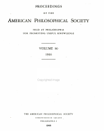 Proceedings of the American Philosophical Society Held at Philadelphia for Promoting Useful Knowledge