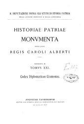 Historiae patriae monumenta: Volume 1;Volume 21