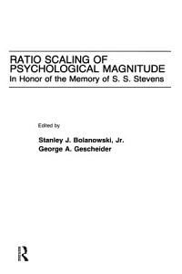 Ratio Scaling of Psychological Magnitude Book