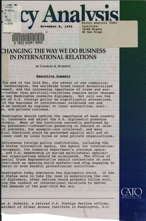 Changing the Way We Do Business in International Relations PDF