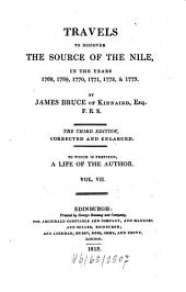 Travels to Discover the Source of the Nile, in the Years 1768, 1769, 1770, 1771, 1772, & 1773: Volume 7
