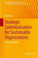 Strategic Communication for Sustainable Organizations PDF