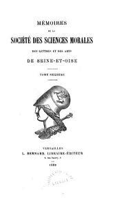 Mémoires de la Société des sciences morales, des lettres et des arts de Seine-et-Oise