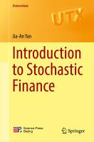 Introduction to Stochastic Finance PDF