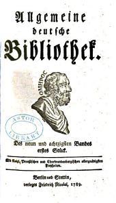 Allgemeine deutsche Bibliothek: Bände 89-90