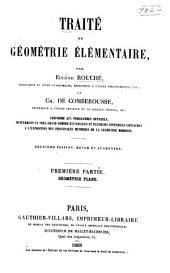 Traité de géométrie élémentaire: Volume1,Partie1