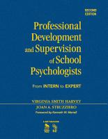 Professional Development and Supervision of School Psychologists PDF