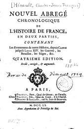 Nouvel abrégé chronologique de l'histoire de France: Volume1
