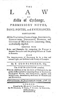 The Law of Bills of Exchange  Promissory Notes  Bank notes  and Insurances     The Sixth Edition Corrected  Etc PDF