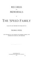 Records and memorials of the Speed family PDF