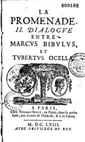 La Promenade. Dialogue entre Marcus Bibulus et Tubertus Ocella