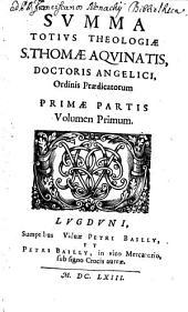 Summa Tutius Theologiae: Τόμος 1,Τεύχος 1