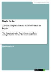 """Zur Emanzipation und Rolle der Frau in Japan: """"Die Emanzipation der Frau in Japan ist nicht so vorangeschritten wie die der Frauen im Westen"""""""
