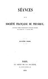 Séances de la Société française de physique