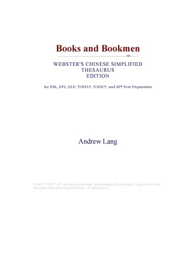 Books and Bookmen  Webster s Chinese Simplified Thesaurus Edition  PDF