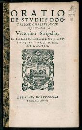 Oratio de studiis doctrinae Christianae