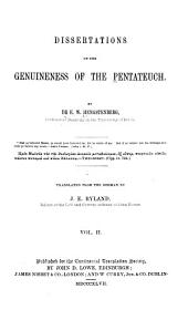Dissertations on the Genuineness of the Pentateuch: Volume 2