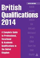 British Qualifications 2014 PDF
