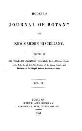 Hooker's Journal of Botany and Kew Garden Miscellany: Volume 3