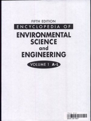 Encyclopedia of Environmental Science and Engineering  A L PDF