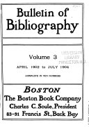 Download Bulletin of Bibliography Book