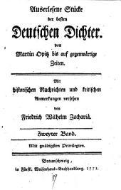 Auserlesene Stücke der besten deutschen Dichter von Martin Opitz bis auf gegenwärtige Zeiten: Band 2