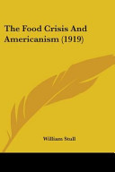 The Food Crisis and Americanism  1919