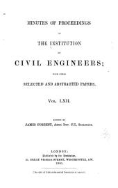 Minutes of Proceedings of the Institution of Civil Engineers: Volume 62