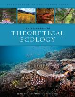 Encyclopedia of Theoretical Ecology PDF