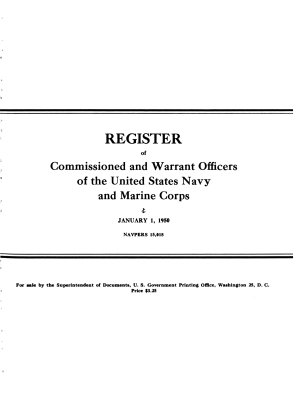 Register of Commissioned and Warrant Officers of the United States Navy and Marine Corps