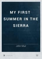 My First Summer in the Sierra PDF