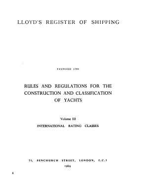 Rules and Regulations for the Construction and Classification of Yachts PDF