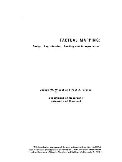 Tactual Mapping PDF