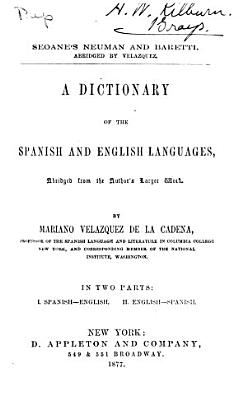 A Dictionary of the Spanish and English Languages  Abridged from the Author s Larger Work PDF