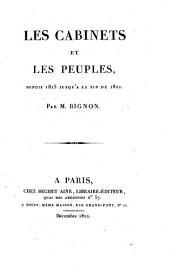 Les Cabinets et les peuples, depuis 1815 jusqu'à la fin de 1822